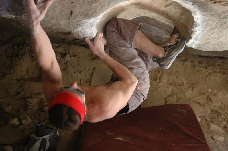 Rock Climbing Photo: an unnamed climber dominating