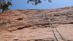 Rock Climbing Photo: TOP ROPE ON THE THIRD CLIMB