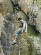 Rock Climbing Photo: Charlie lowering off Bye Bye Bolt