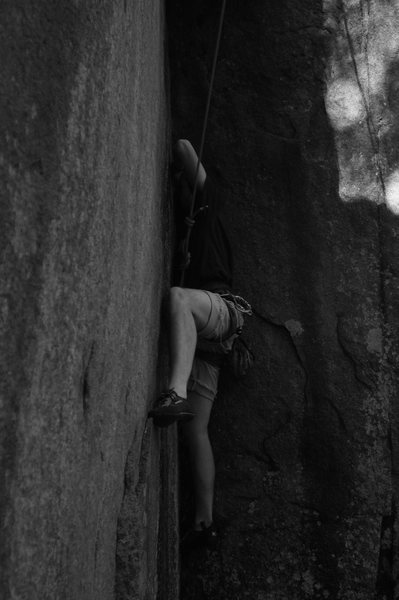 Rock Climbing Photo: Pat on climber's corner