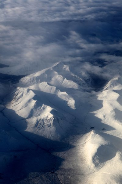 Rock Climbing Photo: Glen Coe in winter from 30000ft