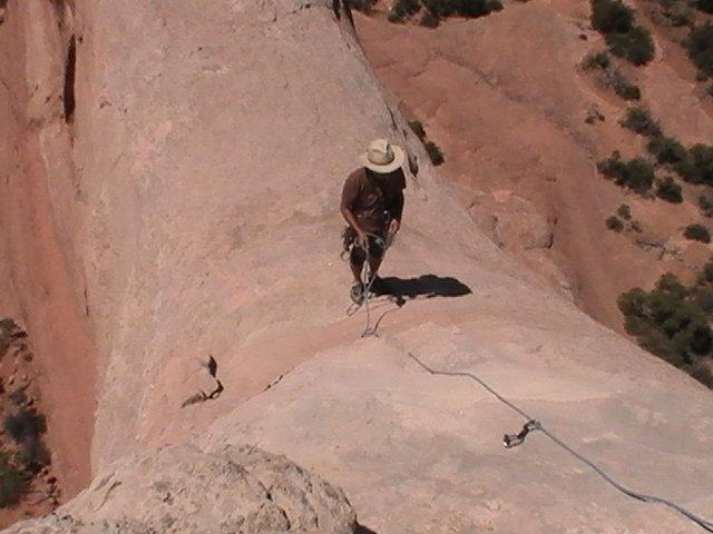 Rock Climbing Photo: drake near the summit pin