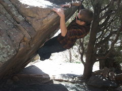 Rock Climbing Photo: Mantling on Spike Rock