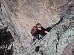 Rock Climbing Photo: Climbing Near Magnum blocks