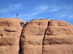 Rock Climbing Photo: Matt and Bill on top.  Taken from 'Sand Hearse'.