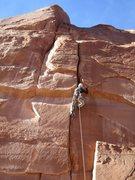 Rock Climbing Photo: Taking flack for aiding.