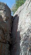 "Rock Climbing Photo:  Bumcycle ""The corner"", left of rope......."