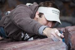 Rock Climbing Photo: Placing gear on Birch Tree Crack.
