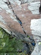 Rock Climbing Photo: Birch Tree Crack 5.8