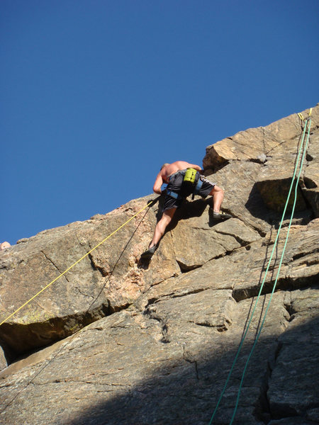 Rock Climbing Photo: A bald Rob, 5-9-12.