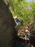 Rock Climbing Photo: Hard Log, Creek Boulder 2