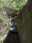 Rock Climbing Photo: Easy Log, Creek Boulder 2