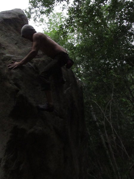 Easy Arete, Creek Boulder 2