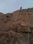 Rock Climbing Photo: Lead Climbing Granite Dells