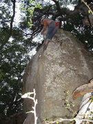Rock Climbing Photo: High Ball Arete, Hidden Boulder