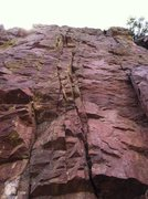 Rock Climbing Photo: Allez Lou.    The left start under the roof was a ...