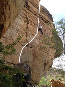 Rock Climbing Photo: Gouda, 5.9 on the Swiss Wall at Jacks Canyon.  VER...