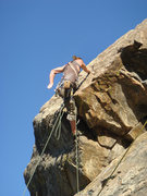 Rock Climbing Photo: Whew!  Close one with that falling boulder!