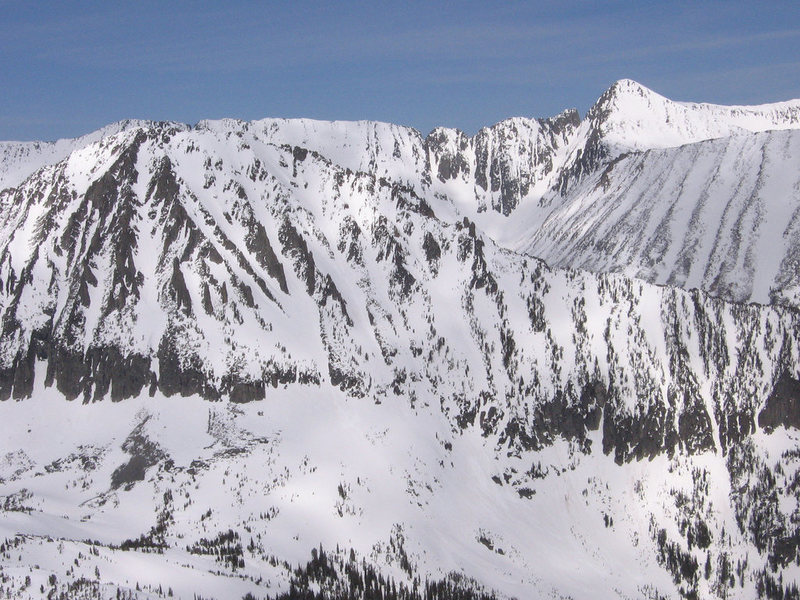Rock Climbing Photo: View from Crazy Peak.