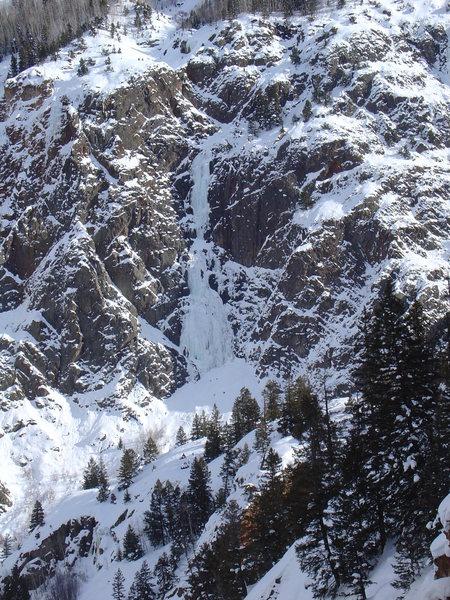 Rock Climbing Photo: Joe Tebbe's first major ice climb in 2008.