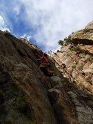 Rock Climbing Photo: Matt on P1.