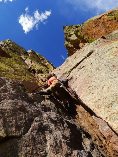 Rock Climbing Photo: Matt starting up P3.