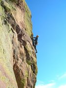 Rock Climbing Photo: Unknown on pitch 2.