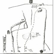 Rock Climbing Photo: Big Pine Slab Drawing