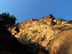 Rock Climbing Photo: I Can Fly redpoint late in the evening