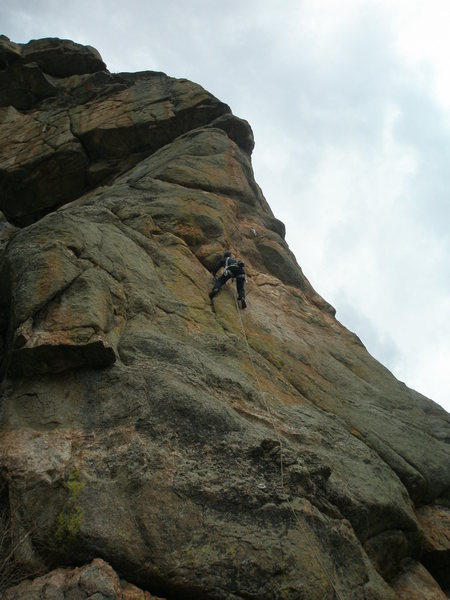 Rock Climbing Photo: Starting the crux section.