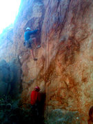 Rock Climbing Photo: Lower flake layback.