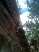 Rock Climbing Photo: An atrophied husband solving the crux.