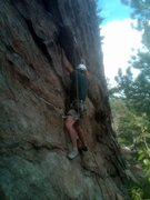 Rock Climbing Photo: Leo on lower Chokin'.