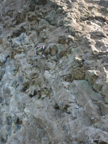 Rock Climbing Photo: Pretty good close up shot of the climbing quality!