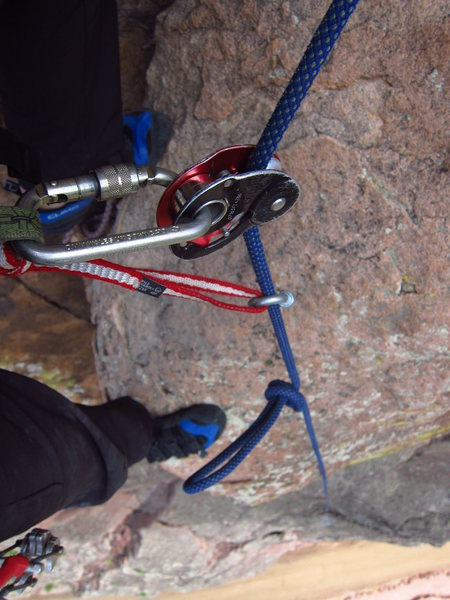 Rock Climbing Photo: Simple Backup System