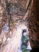 Rock Climbing Photo: Half-way through pitch 1.
