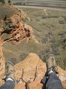 Rock Climbing Photo: View from the belay.