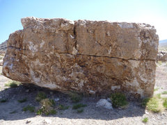 Rock Climbing Photo: There are several problems on this boulder. An eas...