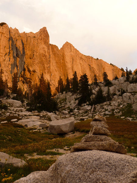 Rock Climbing Photo: Lone Peak Cirque in the last light of the day  dcr...