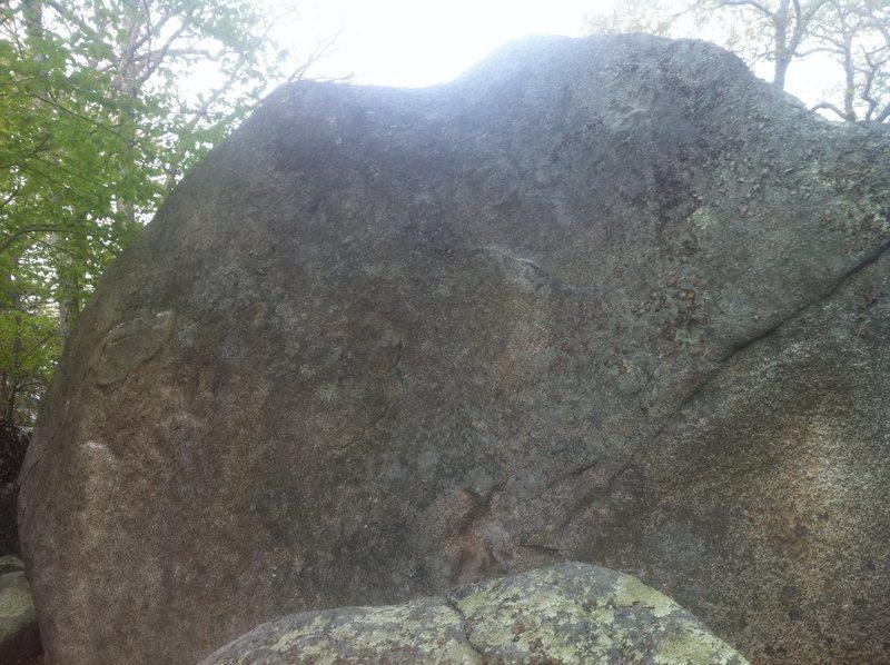 Rock Climbing Photo: Alcove Slab traverse.
