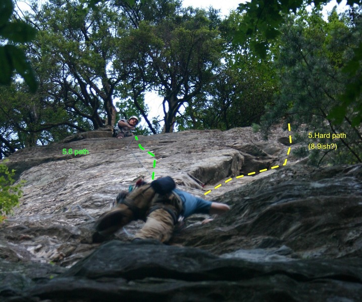 Travis belaying me through the upper half of the route.