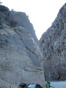Rock Climbing Photo: Sudden Exposure 5.8, at Hole in the Rock, Ogden Ca...