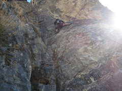 Rock Climbing Photo: Winds of Fire, Hardwall. 5.10a/b but I vote c/d. I...