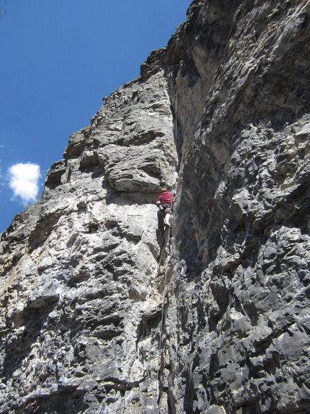 Rock Climbing Photo: Zach Ames again. Still on Les is More 5.10a on Div...