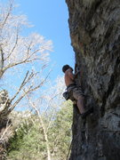 Rock Climbing Photo: Caress of Steel. Lead this climb, dont follow. Exi...