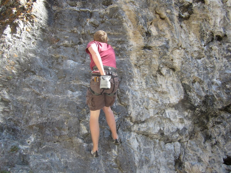 Rock Climbing Photo: Last photo of Caress of Steel. I promise. Zach del...