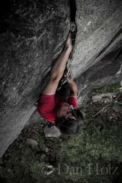 Adam Greenstreet on Thin Fingers 5.11a<br> <br> <br>