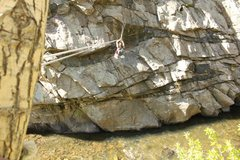 Rock Climbing Photo: Taking the tyrolean across to Creek Side