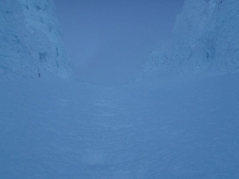 Looking up Leuthold Couloir