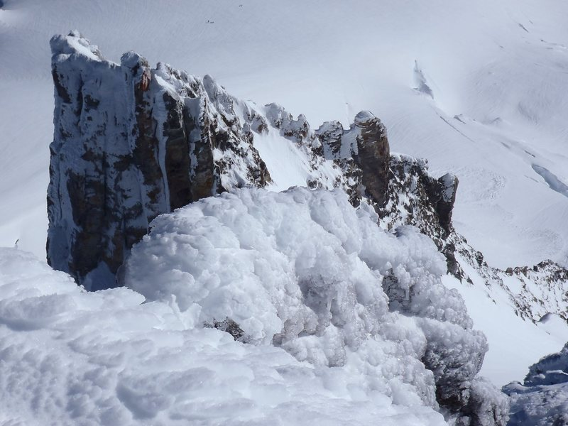 Summit Ridge looking down toward Pearly Gates